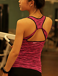 Yoga Tops/Tank Breathable/Stretch/Sweat-wicking/Removable Cups/Soft Stretchy Sports Wear Yoga/Pilates/Fitness
