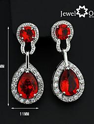 Pendientes colgantes Gema Oro Chapado en Oro Rojo oscuro Joyas 2 piezas