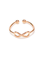 Ring Wedding / Party / Daily / Casual Jewelry Copper / Silver Plated / Rose Gold Plated Women Band Rings 1pc,Adjustable Gold / Silver