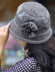 Women Flowers Fashion Sequins Hat
