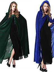 Cloak / Masquerade Santa Suits / Vampire / Movie/TV Theme Costumes Festival/Holiday Halloween Costumes Green / Blue Solid CloakHalloween