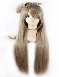 Cute High Quality Light Brown Cosplay  Sythetic Wigs Style