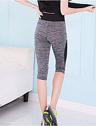 Running Tights / Pants / Bottoms Women's Breathable / Quick Dry / Compression 100% Polyester Yoga Sports High Elasticity Tight AutumnS /