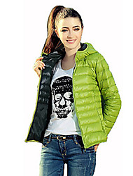 YiFuDi Women's Solid Color Blue / Red / Black / Green Coats & Jackets , Casual / Work Hoodie / Pan Collar Long Sleeve
