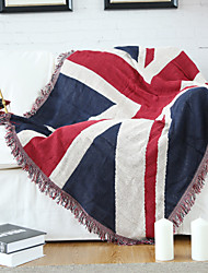 Cotton Union Jack Thickening Line Decorative Carpet Sofa Towel Blanket