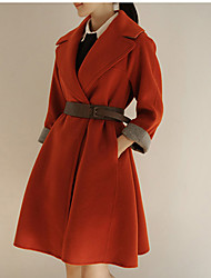 Damen Trench Coat  -  Leger Langarm Polyester