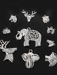 pingentes charme beadia de metal cabeça animal antique prata jóias acessórios DIY