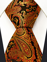 Men's Tie  Paisley  Wedding Gold  100% Silk Business