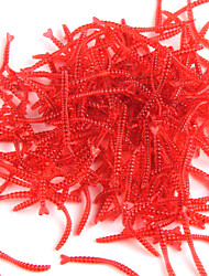 Anmuka  Soft Bait Smell Red Worm Lures0.04 G 200 Pcs 20MM*2MM*2MM Fishing Takcle Grub Artificial Lures