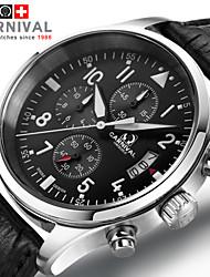 Watch the Pilot Series Super Luminous JIANIANHUA Military Men's Chronograph 6 Pin Black Men's Sports Watch