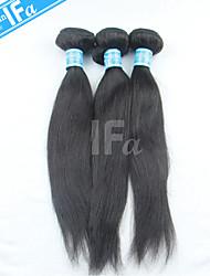Straight Hair Malaysian Human Hair 3Pcs/Lot Virgin Malaysian Hair Extension Color 1B