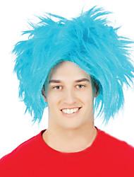 Bule Hedgehog Hair Halloween Masquerade Wig