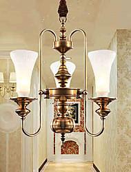5 Lámparas Colgantes ,  Tradicional/Clásico Latón Característica for Cristal / Mini Estilo MetalDormitorio / Comedor / Cocina /