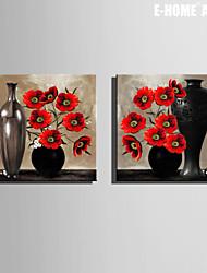 Натюрморт / ботанический Холст для печати 2 шторы Готовы повесить , Квадратный