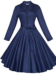 Maggie Tang Women's 3/4 Sleeve 50s VTG Retro Rockabilly Hepburn Pinup Full Circle Swing Cos Party Dress 585