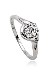 Maxi anel Cristal imitação de diamante Liga Moda Prata Jóias Festa Diário Casual 1peça