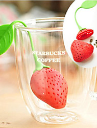 Creative Strawberry Shape Silicone Tea Filter (Color Random)