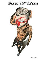 1 - Autres - Multicolore - Motif - 12cm(W)*19cm(L) - en Papier - Tatouages Autocollants - Brand New - Homme / Femme / Adulte / Adolescent