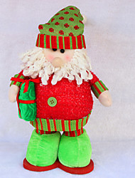 "Christmas Decor 17*30cm/6.7*11.8"" Christmas Decorations Dolls Santa Claus Flexible Legs Toys Festival Gift"