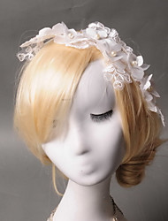 Women's Lace / Tulle / Imitation Pearl / Fabric Headpiece - Wedding / Special Occasion Headbands 1 Piece