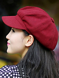 Women Fashion Warm Octagonal Cap