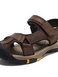 Sandálias dos homens primavera verão outono conforto nappa couro ao ar livre escritório&Carreira vestido casual marrom água sapatos