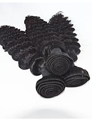 """onda 3pcs indio virginal del pelo profundo / porción larga duración 8 """"-30"""" de profundidad pelo crudo sin procesar alta calidad rizado"""