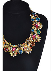 MPL The fashion is full of precious stones, the big name necklace
