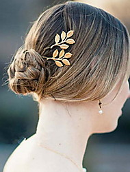 Wedding Hair Accessories Olive Branches Leaves Bride Folder Hairpins