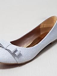Women's Shoes Glitter Flat Heel Ballerina Flats Wedding/Outdoor/Party & Evening/Dress/Casual Silver