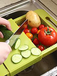 drene deslize combinação cozinha tábua tábua de corte cremalheira cor aleatória