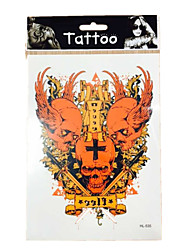 10/PCS Popular New  waterproof temporary skull tattoos sexy body art removable colorful tattoos WST-41