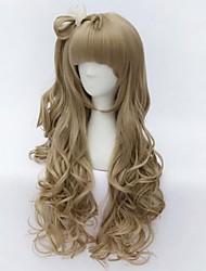2015 nova chegada amo minami kotori peruca cosplay anime ondulado peruca longa âmbar ao vivo