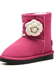 Botas ( Negro / Rosa / Rojo ) - Comfort / Botas de Nieve / Punta Redonda / Punta Cerrada - Ante