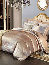 Royal Retro Style Camel Jacquard Bedding Set 4-Piece