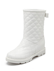 Women's Shoes Wedge Heel Snow Boots / Round Toe Boots Casual Blue / Pink / White