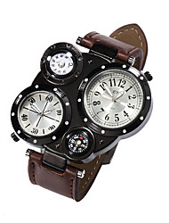 Watches Men Sports Calendar Watch Dual Movement Compass Wrist Watch Relogio Masculino Quartz Watch (Assorted Colors) Cool Watch Unique Watch