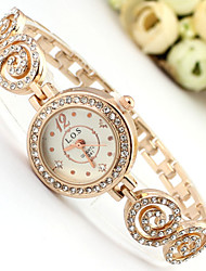 Women's Fashion Watch Quartz Alloy Band Sparkle Bohemian Charm Bangle Rose Gold