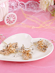 Bride's Golden Flower Imitation Pearl Forehead Wedding Headbands 1 PC