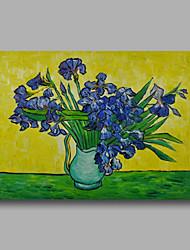 Handgeschilderde Abstract / Bloemenmotief/Botanisch / Abstracte landschappenModern Eén paneel Canvas Hang-geschilderd olieverfschilderij