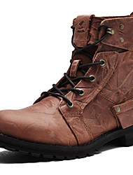 Men's Shoes Outdoor / Athletic / Casual Leather Boots Brown