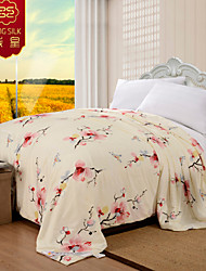100% Cotton Wedding Comforter Pink Home Textile Winter Warm Silk Quilt Jacquard Silk Blanket Wedding Bedding Sets