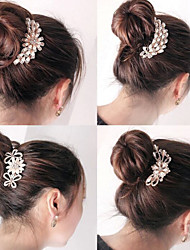 South Korean High-Grade Ornaments in Combs Hair Clasp Diamond Pearl Go A Random Style