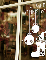 Window Stickers Window Decals Style Christmas Snowflake Pendant Window Glass Decoration PVC Window stickers