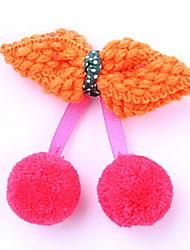 YW Sweet Plush Cherry Bowknot Barrettes(6 Bowknot Colors)