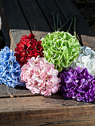 Seashells Hydrangea in Silk Cloth Artificial Flower for Home Decoration(5Piece)