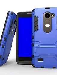 plástico e TPU 2 em 1 capa de caso com estande armadura caso de volta à prova de choque para LG leon c40