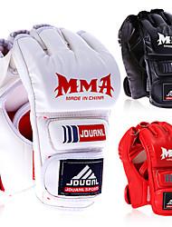 MMA Sanda Muay Thai Training Half Mitts Boxing Punching Glove Extension Wrist Leather Boxing Glove