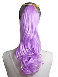 High Quality Fashion Purple Hair Curls Ponytail Wigs