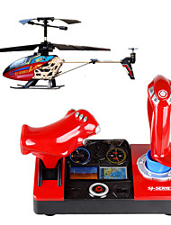 2.4GHz 3.5-CH Double Handle R/C Helicopter w/ 3D Words